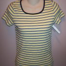 Jones New York Sport Petite Yellow Black Stripe Top Size Petite wt-32 location5
