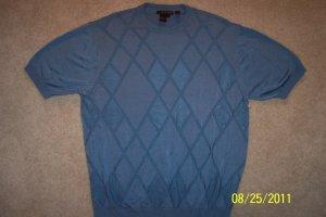 Tulliano MEN'S SHORT SLEEVE Knit Shirt  Blue Size L Large 001SHIRT-67 location6