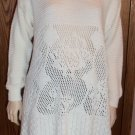 Style New York Cream Knit Top Dress Sweater Size M wt-34 location8