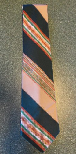 Sears The Men's Store Men's TIE NECKTIE Green Stripe tie13 location47