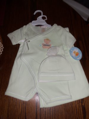 Pot Of Gold INFANT Boy's Layette 3 Pc Set 3/6 Months Little Prince locationw8