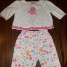 2 PC Under The Sea Outfit Gymboree INFANT Girl's Top and Pant Set 0 - 3 Months location6