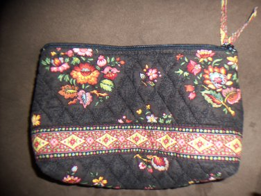 NWOT Vera Bradley Chocolat Retired Cosmetic Case Floral Print location15