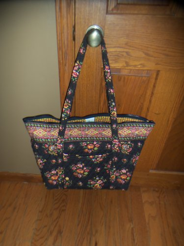 NWoT Vera Bradley Chocolat Retired Double Handle Large Tote Diaper Bag Floral Print location15