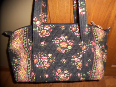 NWoT Vera Bradley Chocolat Retired Double Handle Duffle Bag Chocolate Brown Floral Print location15