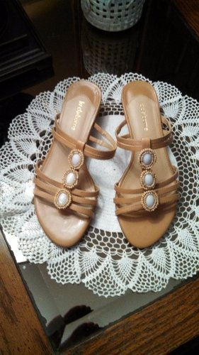 Liz Claiborne Beaded SR12/06 Bethanie SANDALS Shoes Size 6 M locationw14