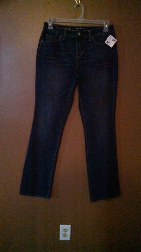 Merona WOMEN'S Denim Jeans Size 6 Curvy Boot Cut 33 Inseam wj-25 locw23