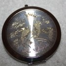 Coy Fish Pearl Colored Compact with double mirrors
