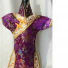 New!!!  Wine Bottle Cover - Purple and Gold - New!!!