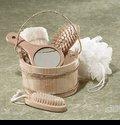 S-62228061 6-Piece Wood Bucket Bath Set