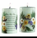 Q-22234040 Bless This Home Poem Pillar Candle