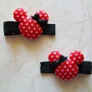 Minnie Mouse Hair Clip Set - Red & Black