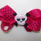 """Punk Princess Hair Bow - Pink & Black 3"""" - Great for a Newborn to Teen"""