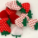10 Sweet Strawberry Appliques-Great for Bow Making, Scrapbooking and Crafts