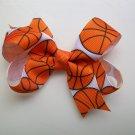 "Basketball Print Hair Bow - Medium 3 """