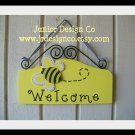 Bumble Bee Welcome Wall Sign