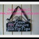 Please Remove Your Flip Flops Sign