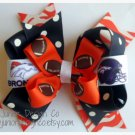"NFL Inspired Large Hair Bow 4.5"" - Denver Broncos"