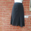 NWT $575 GARY GRAHAM BLACK SILK SKIRT 8