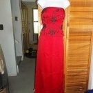 NWT $380 ZOLA EVENING GORGEOUS RED BUSTIER&SKIRT SET 6