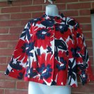NWOT RUBY RD GORGEOUS LARGE RED FLOWER JACKET 8