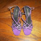 PRADA PURPLE&BLACK WEDGES 36.5 6.5 US