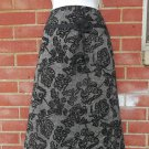 NWOT ANN TAYLOR BLACK FLOCKED SKIRT 10