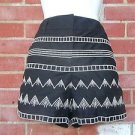 NWT ANN TAYLOR LOFT CUTE BLACK EMBROIRDED SHORTS 6