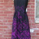 NWT NINE WEST BLACK&FUSHIA PRINT DRESS 4