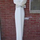 NWT BADGLEY MISCHKA IVORY FORMAL GOWN 4 $675