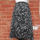 NWOT ANN TAYLOR LOFT BLACK&GRAY CAMOFLAUGE PRINT SKIRT 14