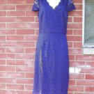 NWT LAUNDRY FAB PURPLE LACE DRESS 10 $ 295