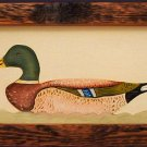 DUCK Original Oil FOLK ART STYLE Custom Wood Frame