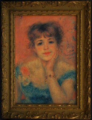 Portrait of the Actress Jeanne Samary, by Pierre August Renoir, Framed Print on Canvas