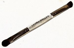 "Laura Geller Double Ended Eyelid & Crease Eyeshadow Brush Lucite Handle ~6.25""L"