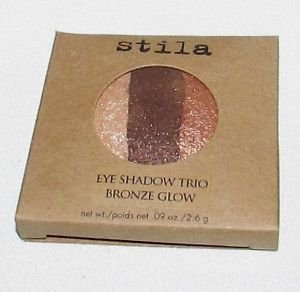 Stila Baked Eye Shadow Trio Refill BRONZE GLOW NewInBox Beautiful Shimmer Shades
