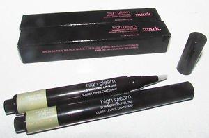 2 pcs Avon Mark HALO EFFECT High Gleam Shimmering Lip Gloss CLEAR FullSz Boxed