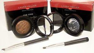 Laura Geller BEWITCHING BRONZE & CRYSTAL COBALT Shadow/Liner Eye Rimz Set $54
