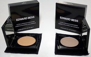 Edward Bess Ultra Luminous Eyeshadow Set MIRAGE Gold Peach & STORM Silver Taupe