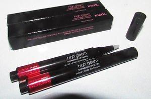 2 pcs Avon Mark PUNCH High Gleam Shimmering Lip Gloss CORAL-RED Full Sz Boxed