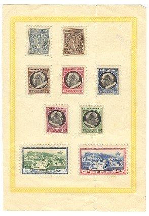 Vatican City Stamps circa 1940s