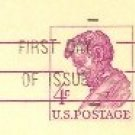 US Postal Card 4 cent Abraham Lincoln First Day Issue SC UX48