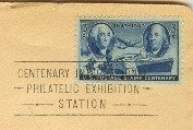 US Postage Stamp Centenary 3 cent Stamp special Philatelic Exhibition Cancellation FDI SC 947