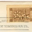Fort Ticonderoga 3 cent Stamp FDI SC 1071 First Day Issue