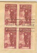 150th Anniversary Pennsylvania Academy Fine Arts 3 cent Block 4 FDI SC 1064 First Day Issue