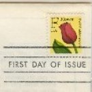 Flower F Stamp FDI First Day Issue