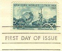 New York Worlds Fair 1964 1965 5 cent Stamp FDI SC 1244 First Day Issue