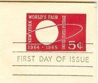 Envelope 1964 Worlds Fair 5 cent FDI SC U546 First Day Issue