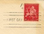 New York Air Mail 5 cent Stamp FDI SC C38 First Day of Issue