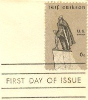 Leif Erikson 6 cent Stamp FDI SC 1359 First Day Issue
